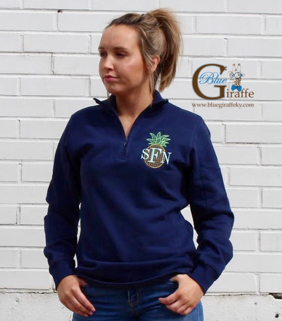 Pineapple Monogram Pullover (ladies fit)