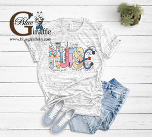 Nurse Word Art Tee