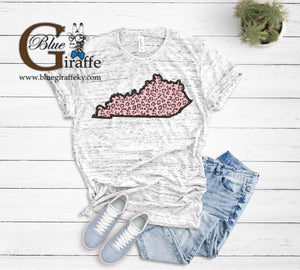Pink Leopard State Tee