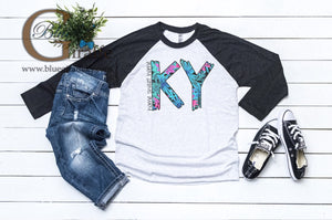Home Sweet KY Baseball Tee