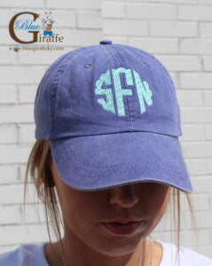 Scallop Monogram Hat