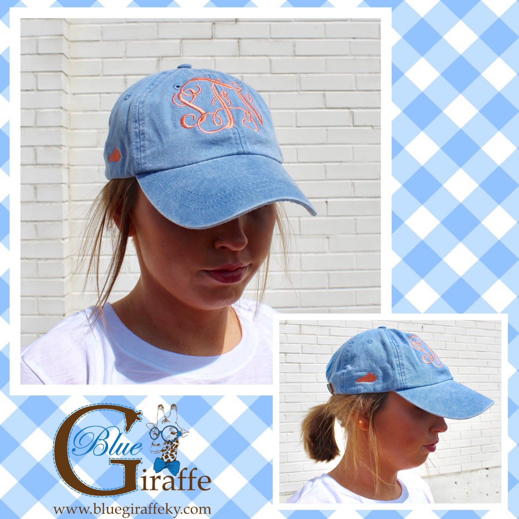 Monogram with small Kentucky Accent Hat