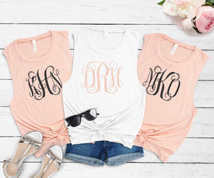 Monogrammed Muscle Tank