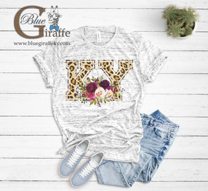 Leopard Floral KY Tee