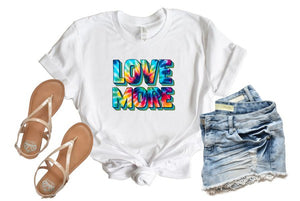 More Love Tie Dye Tee