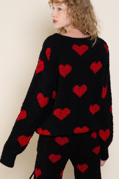 Heart on my Sleeve Cozy Sweater