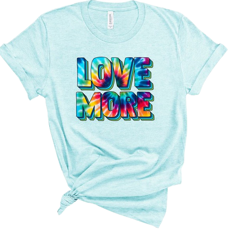 LOVE MORE Tee in Sky Blue