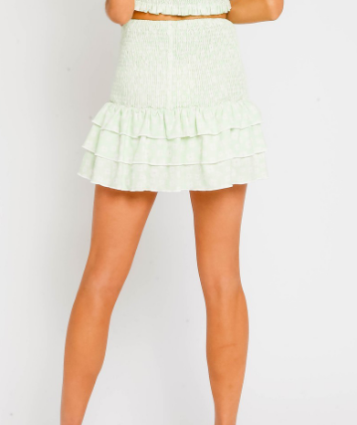 Mirandia Mint Green Smocked Skirt