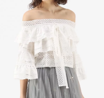 Crops of Lace Tiered Crop Top