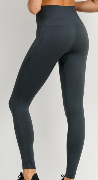 Selena Slate Grey Seamless Leggings