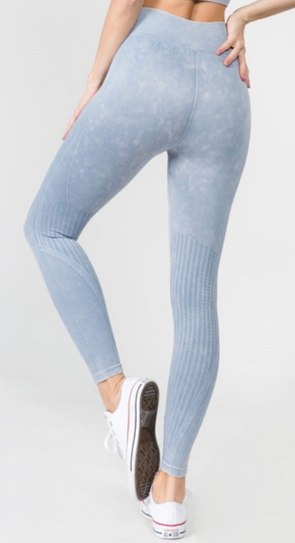 Hova Steel Blue Seamless Leggings