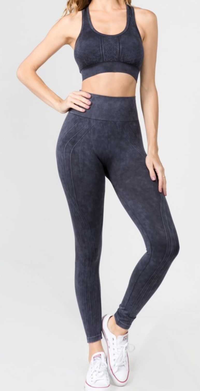 Hova Black Seamless Leggings