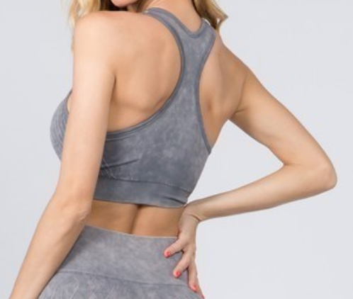 Hova Grey Seamless Sports Bra
