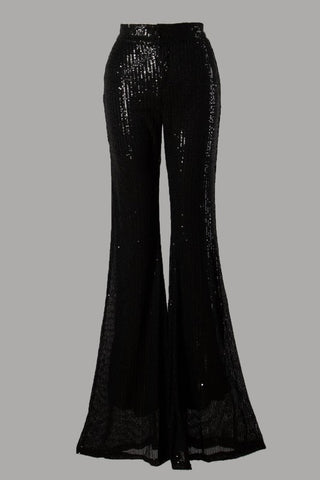 Onyx Sequin Flare Pants