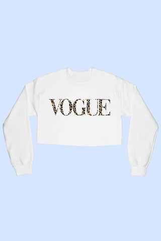 Vogue Leopard Crop Sweatshirt