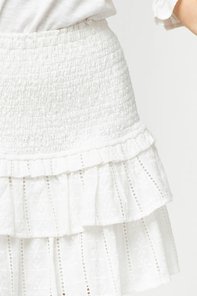 Samantha Smocked Ruffle Skirt