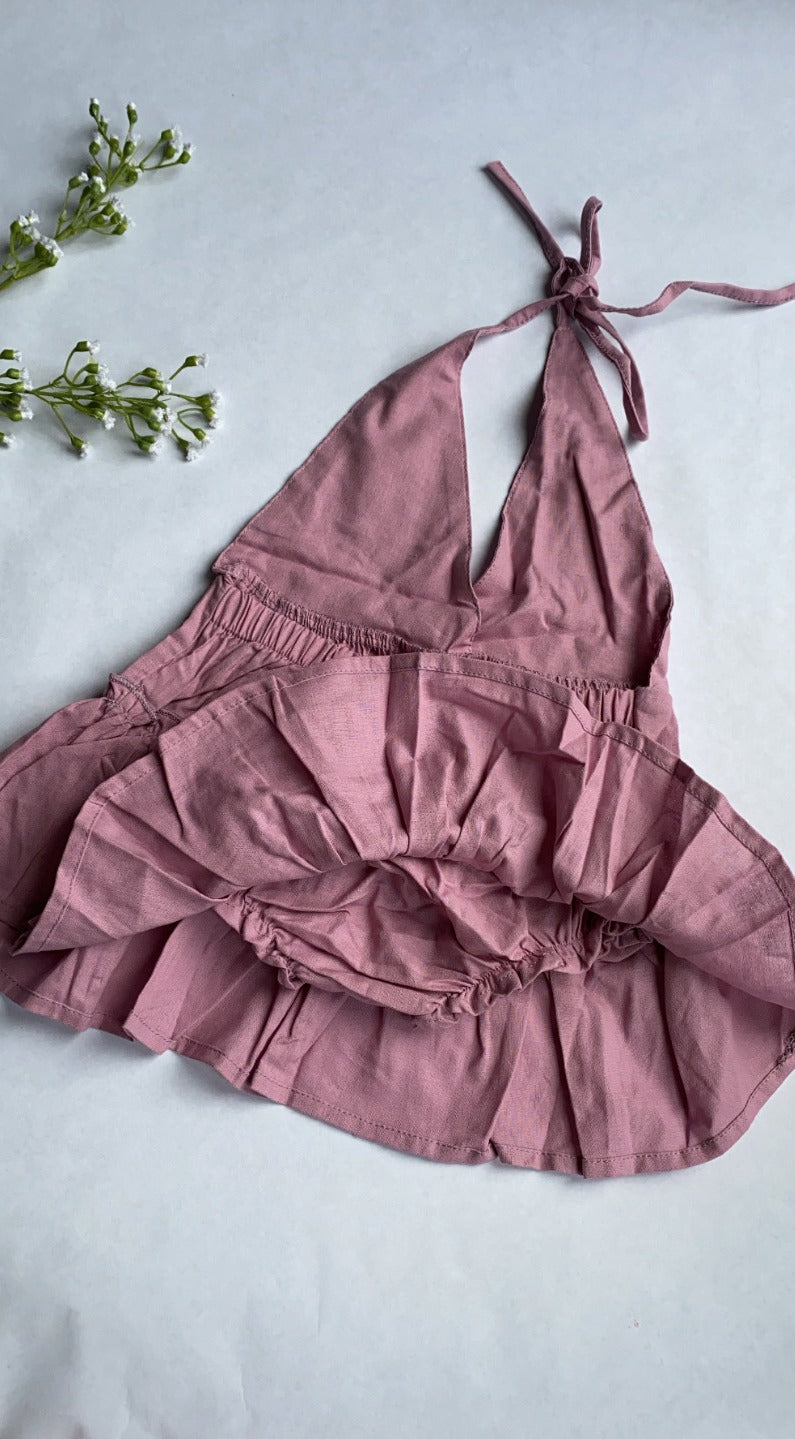 Lala Halter Babydoll Dress