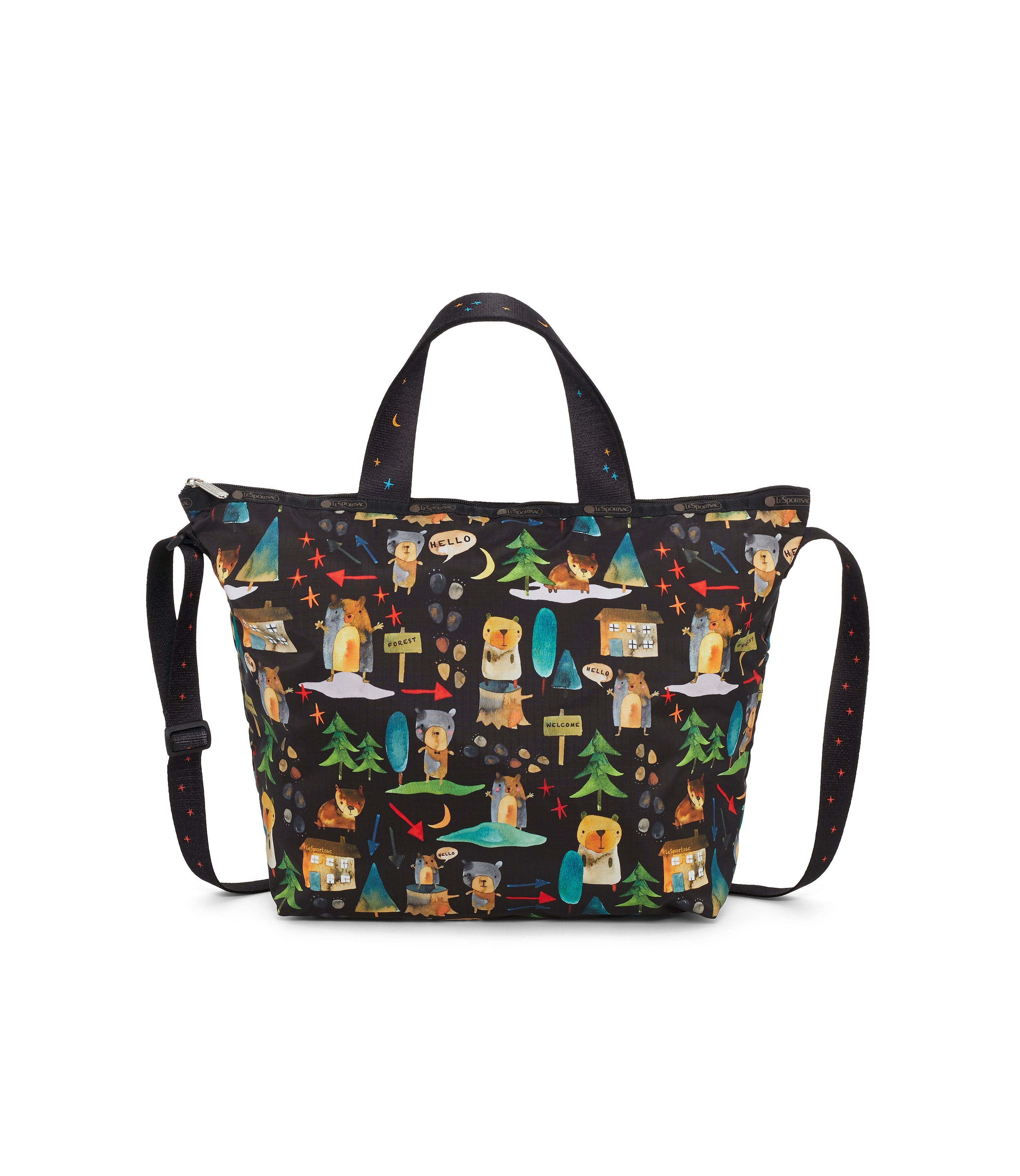 Easy Carry Tote, Nylon Tote Bags, LeSportsac, Hello Bears print