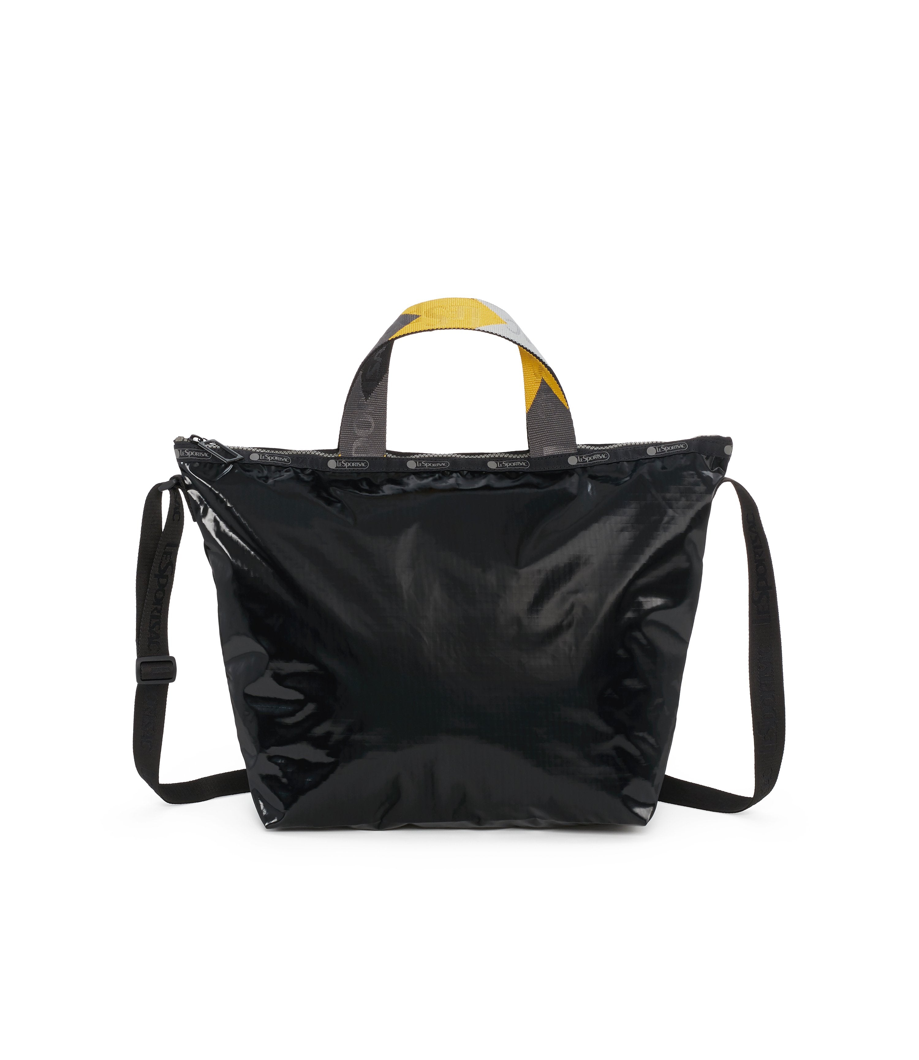 Easy Carry Tote, Nylon Tote Bags, LeSportsac, Black Arrow Liquid Patent