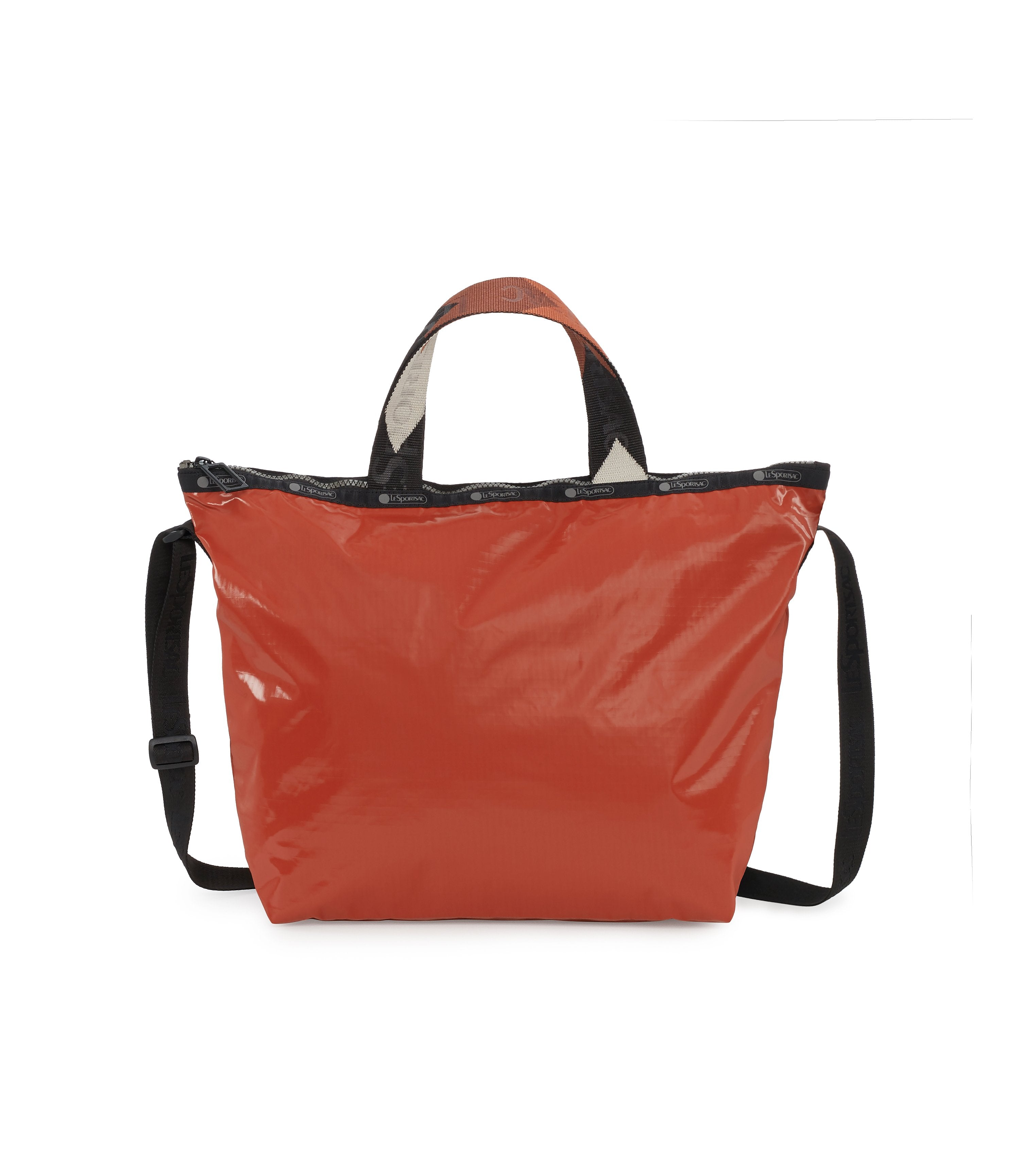 Easy Carry Tote, Nylon Tote Bags, LeSportsac, Cinnabar Arrow Liquid Patent