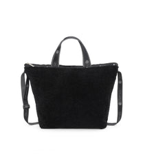 Easy Carry Tote, Nylon Tote Bags, LeSportsac, Black Sherpa