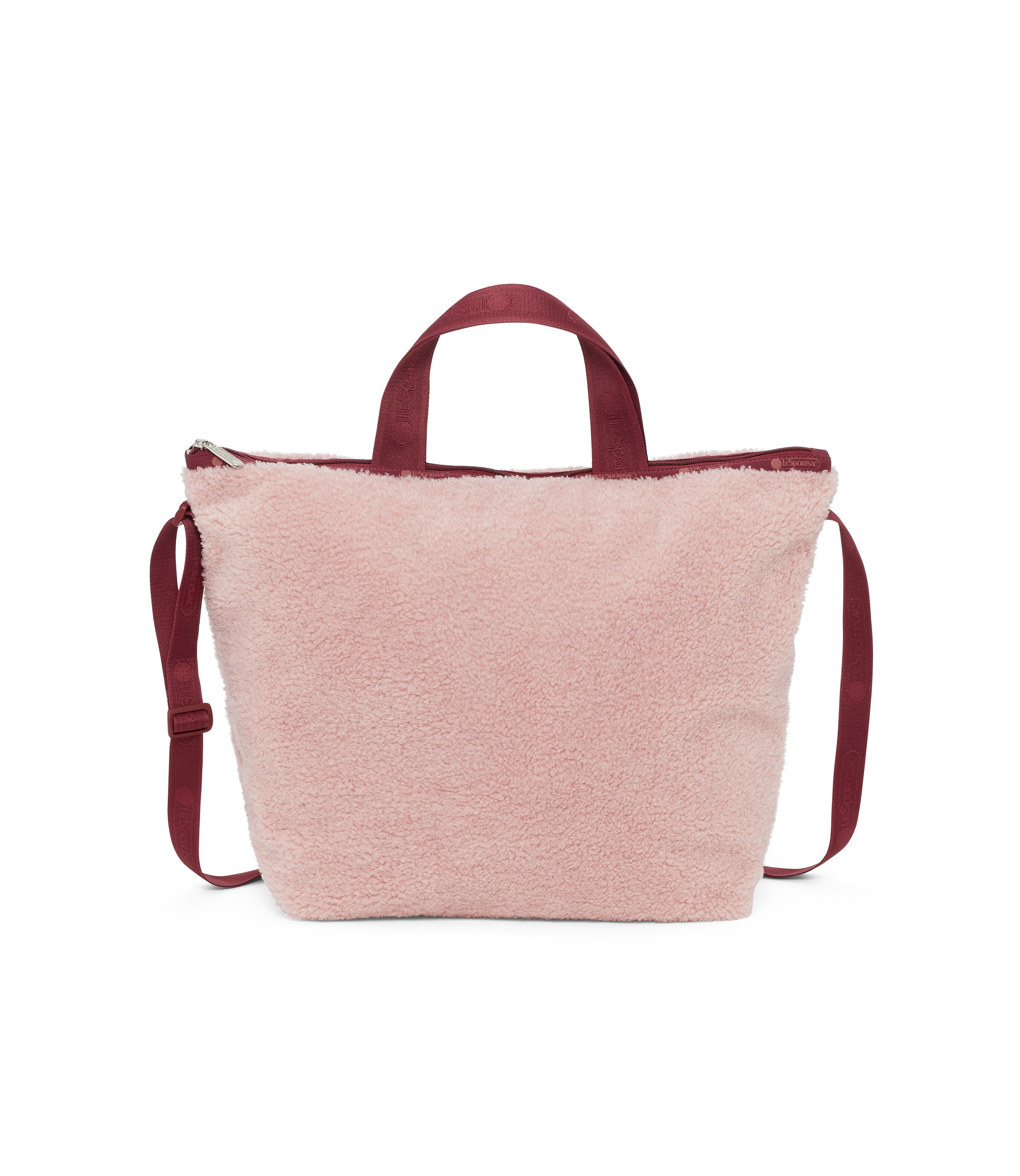 Easy Carry Tote, Nylon Tote Bags, LeSportsac, Pink Sherpa