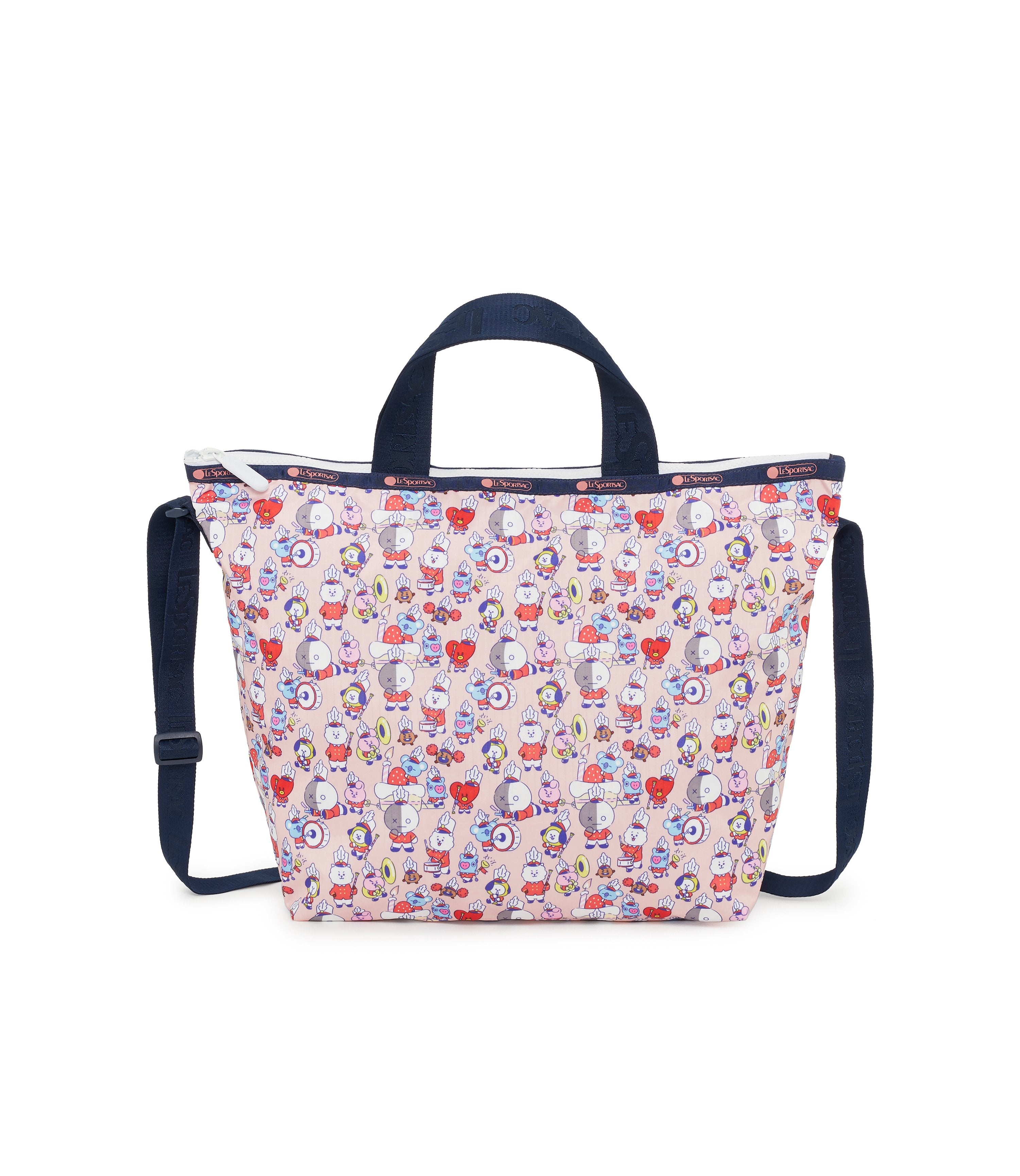 Easy Carry Tote, Line Friends, BTS Tote Bags, LeSportsac, BT21 Multi, Pink