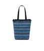 Sea Stripe Blue Pom print