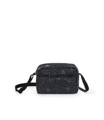 Daniella Crossbody, Nylon Handbags and Classic Purses, Black Sand print
