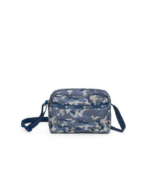 Daniella Crossbody, Nylon Handbags and Classic Purses, Camo Blues print