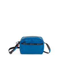Daniella Crossbody, Nylon Handbags and Classic Purses, Blue Arrow Liquid Patent