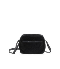 Daniella Crossbody, Nylon Handbags and Classic Purses, Black Sherpa