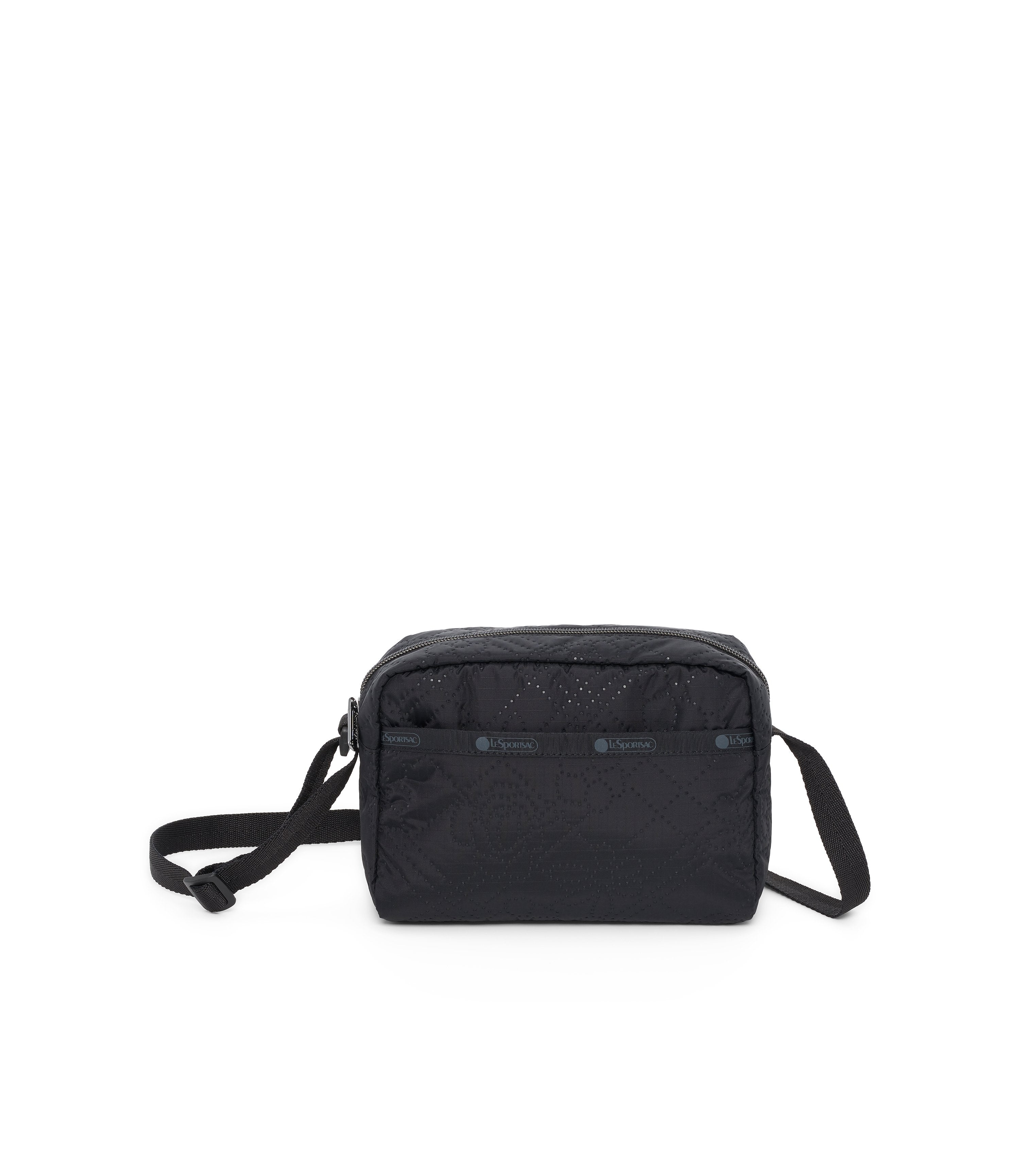 Daniella Crossbody, Nylon Handbags and Classic Purses, Fleur De Check Black Debossed