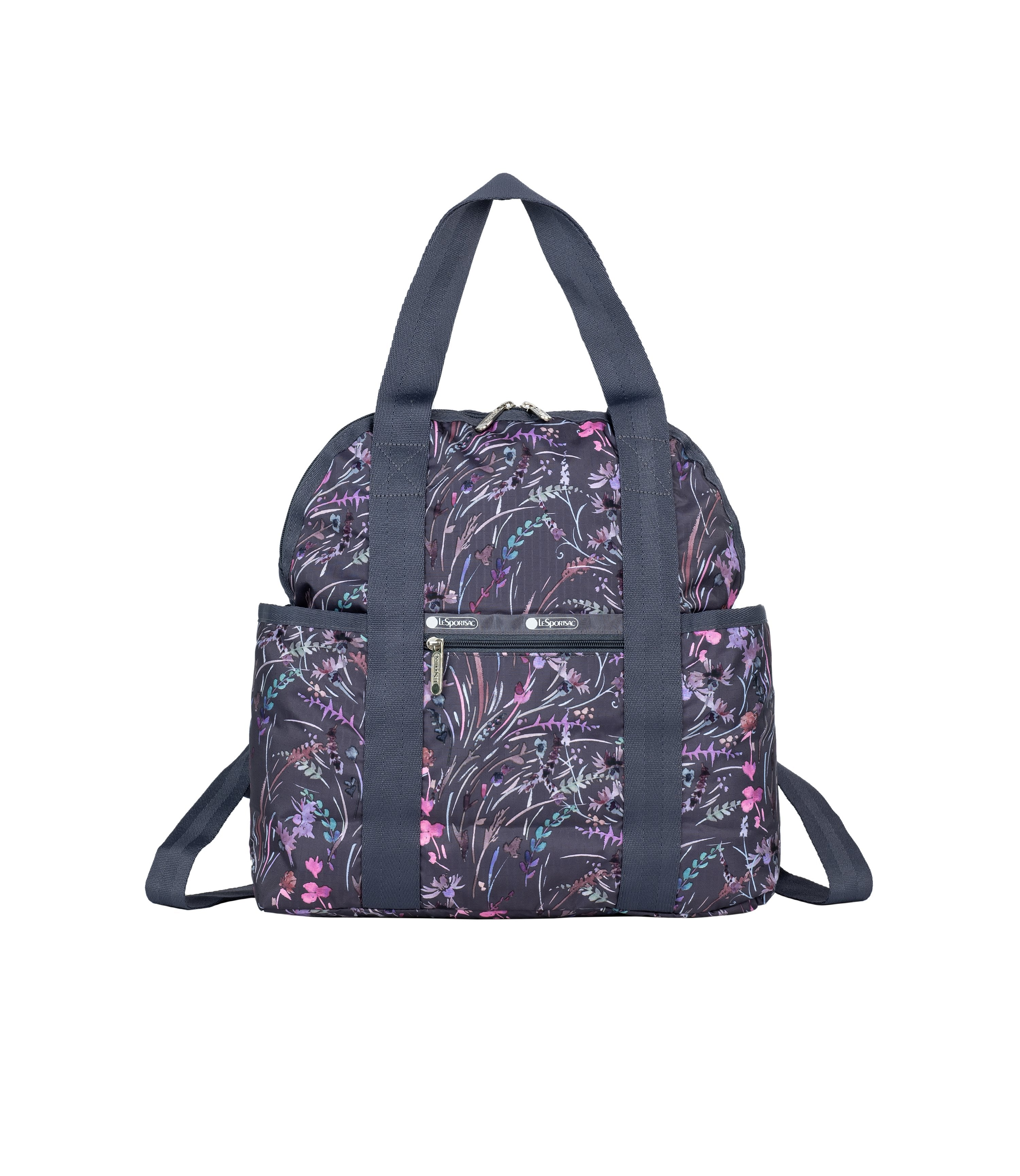 LeSportsac - Backpacks - Double Trouble Backpack - Windswept Floral Shadow print