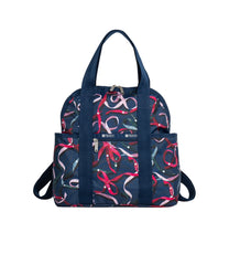 LeSportsac - Backpacks - Double Trouble Backpack - Ribbons Navy print