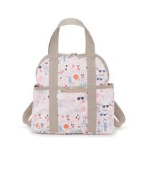 Double Trouble Backpacks, Water Resistant Backpack, Fifi Lapin, Pink, Bunny, Fifi Pool Party print