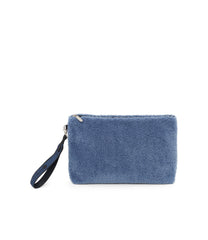 Fur Pouch, Accessories, Makeup and Cosmetic Bags, LeSportsac, Stone Sherpa