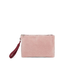 Fur Pouch, Accessories, Makeup and Cosmetic Bags, LeSportsac, Pink Sherpa