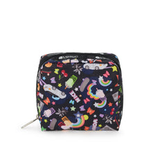 Medium Square Cosmetic, Accessories and Cosmetic Bag, LeSportsac, Yaas print