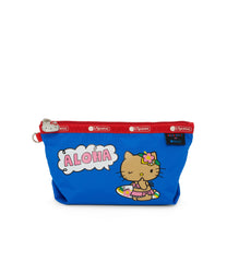 Medium Sloan Cosmetic, Accessories and Cosmetic Bag, LeSportsac, Aloha Hello Kitty print