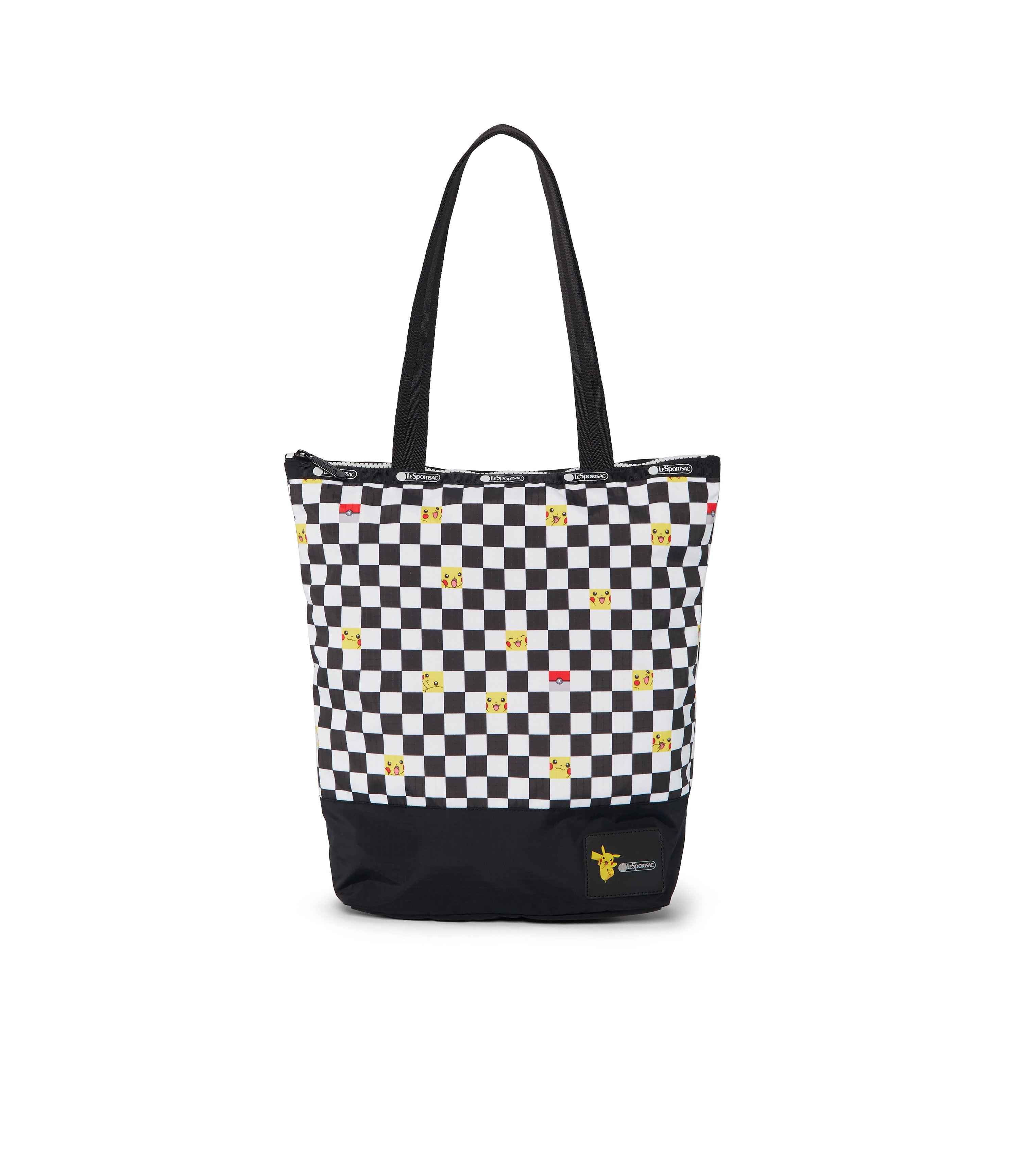 Pokémon Blocked Daily Tote-LeSportsac-Medium-Tote-checkered-front