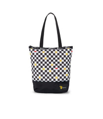 Pokemon - Blocked Daily Tote - Totes - Pikachu Check Pocket - Front View
