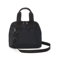 Amelia Handbag, Handbags and Crossbody Bags, LeSportsac, Fleur De Check Black Debossed
