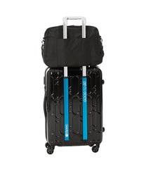 Black travel carry-on bag with luggage sleeve