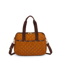 Harper Bag, Handbags and Crossbody Bags, Duffle Bags, LeSportsac, Matelasse Bronze Tonal Quilted