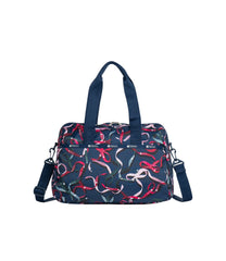 LeSportsac - Weekenders - Harper Bag - Ribbons Navy print