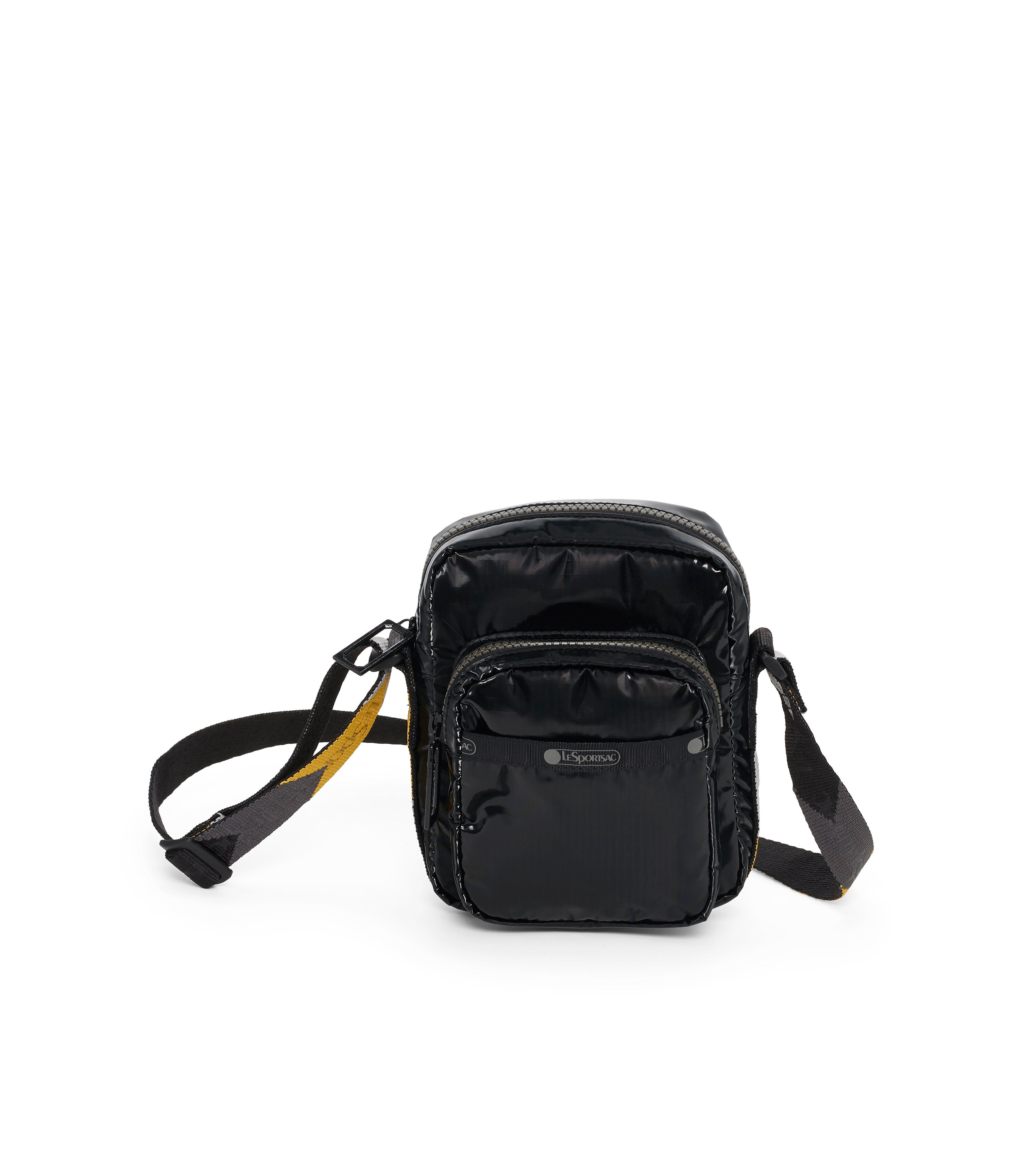 Charlie Crossbody, Handbags and Crossbody Bags, LeSportsac, Black Arrow Liquid Patent