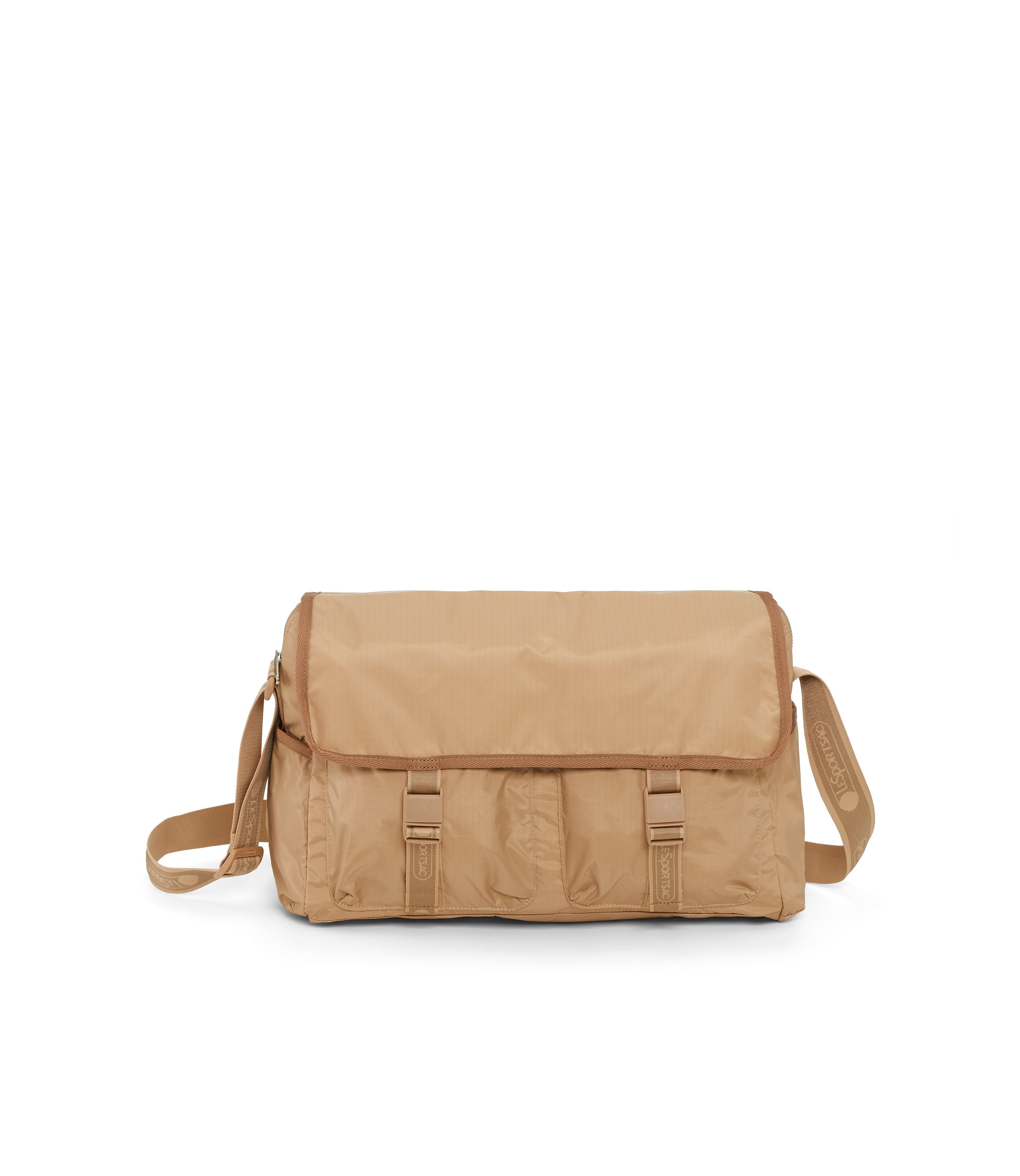Large Brook Messenger, Large Bags and Crossbody Bags, Expandable Messenger, LeSportsac, Heritage Wheat