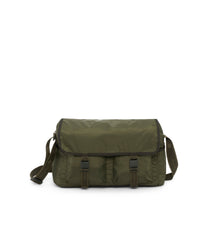 Large Brook Messenger, Large Bags and Crossbody Bags, Expandable Messenger, LeSportsac, Heritage Avocado