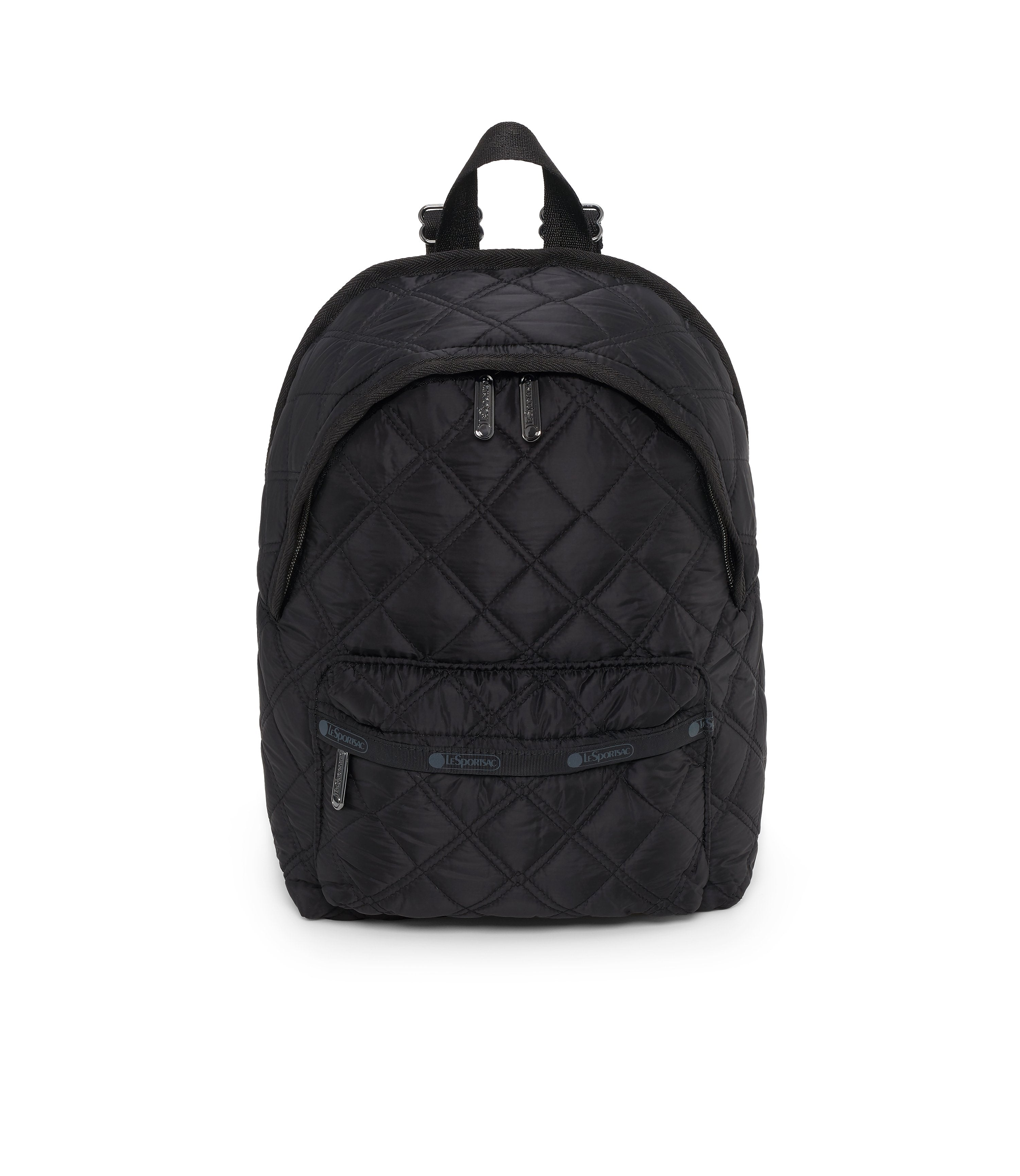 Small Hollis Backpack, Mini Backpack, LeSportsac, Matelasse Black Quilted